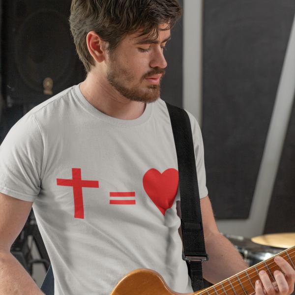 T-Shirt Kreuz Herz