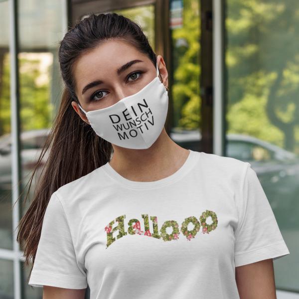 Individuell bedruckbarer Mund-Nasen-Schutz, Community Maske