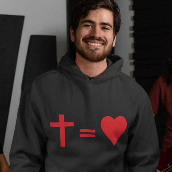 Hoodie Kreuz Herz